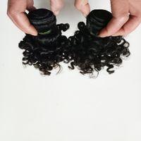 ingrosso bello capelli corti donna-Bella regina capelli vergini brasiliani Nuovo tipo breve 6-12 pollici Kinky ricci americano nero donna africana popolare capelli indiani 50 g / pz 6 pz / lotto