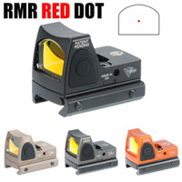 Wholesale Led Reflex - Tactical RMR Red Dot Reflex Sight Adjustable (LED) 3.25 MOA Red Dot with Side Button Control Orange Black Gray Dark Earth