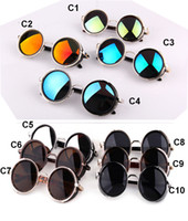 Wholesale Cool Mens Glasses - Hot Fashion 2017 Summer Sunglasses Steampunk Retro Coating Mens Vintage Round Sunglasses Men Cool men Women Retro Sun Glasses Framed