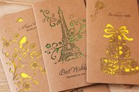 Wholesale Papers For Greeting Cards - Sen is hollow-out kraft paper, eight big card delicate birthday greeting card greeting CARDS for teacher's day CARDS