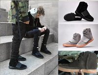 Wholesale New Mens Boots Knee High - 2018 new Retro Mens Boost 750 Blackout Outdoors Sneaker,discount Cheap Hot Selling 750 Boost, Skateboard Shoes,Sneakeheads Shoe High Sho