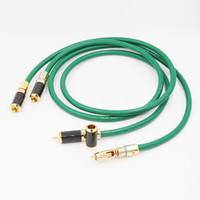 Wholesale gold hifi connectors - Freeshipping VIB ORG 082810 High Performance Silver plated RCA Hi Fi Cable Carbon Gold RCA Connector Audio RCA cable for HIFI