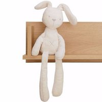 Wholesale Cheapest Baby Strollers - Wholesale- 2016 Cute Rabbit Baby Soft Plush Toys Plush Rabbit Stuffed Toys White Cheapest Price Best Gift for Kids Stroller Accessories