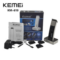 Wholesale Hair Cut Machines - 100% Original KEIMEI KM-619 Rechargeable Hair Cipper Electric Shaving Machine Razor Barber Cutting Beard Trimmer Haircut Set Cord(0604059)