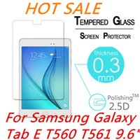 """Wholesale Screen Protect Galaxy - Wholesale-9H 2.5D 0.3mm Explosion-Proof Toughened Tempered Glass For Samsung Galaxy Tab E T560 T561 9.6"""" Film Clear Screen Protect"""