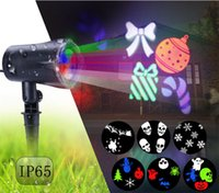 Multicolor Halloween Christmas LED Projeção Lâmpada Outdoor Waterproof Film lâmpada de projeção Lawn Lights For Holiday Decoration