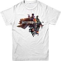 Wholesale Battlefield Poster - Mens T Shirts Fashion 2017 Battlefied T-Shirt, Battlefield Poster T-Shirt, Inspired Design Top Print T Shirt Mens Short Sleeve