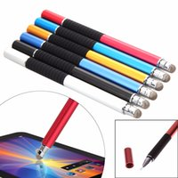 Wholesale Stylus Game Pens - Stylus Pen 2 in 1 Universal Precision Capacitive Touch Screen Pen For iPhone iPad Samsung Tablets Phones Games painting