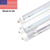 Wholesale Al Base - T8 LED Light Tube 8ft 45W (90W equivalent) 4800Lm Ultrahigh Brightness, FA8 Single Pin Base,6000K Cold White, Clear Cover+AL, 25-pack