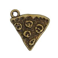 colgantes triangulares al por mayor-Zinc Based Alloy Charms Colgantes Triangle Pizza Bronce Antiguo 21mm (7/8