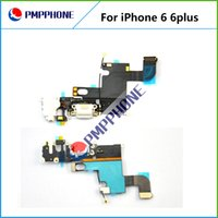 Wholesale Dock Flex Cable - Dock Connector Charger Charging Port Flex Cable for iPhone 6 4.7inch for iphone 6 Plus 5.5inch fast shipping