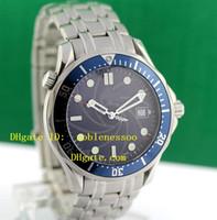 Wholesale Professional Divers - Top quality NEW DIVER JAMES BOND 007 Blue Dial MEN'S WATCH Chronometer Professional Luxury Men's Watches