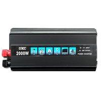 Wholesale 24 Dc Inverter - Wholesale- Car inverter 2000W Car Vehicle USB DC 24V to AC 220V Power Inverter Adapter Converter Black 24 V to 220 V CY527-CN