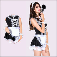Wholesale Princess Dresses For Adults - New Novetly Women Dress Lace Maid Costumes Princess Women Clothing Cosplay Dress For Adult Game Retail Wholesale