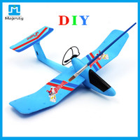 Wholesale 2016 New design DIY airplane Toys Glider Airplane DIY Plane Wireless Uplane Romote Controlled Airplane from Majesty