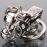 Bluelans Motorcycle Key Ring Chain Motor Argento Portachiavi Fashion Cute Lover