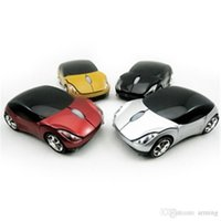 Wholesale Good Pc Laptops - Car Shape USB 2.0 Wirelss Optical Mouse USB Receiver 2.4GHZ Stylish Wireless Car Mice For Laptop PC Computer Good quality