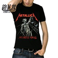 x201710 Maglietta Metallica Uomo Donna Cranio Stampa Heavy Metal Rock T Shirts O Top Top Tee famoso Rock Band T-Shirt manica corta in cotone