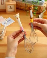 Wholesale Japan Gadget - Lovely Japan easy bear cartoon shape stainless steel egg beater kitchen gadgets egg tools for sale