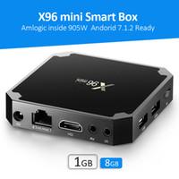 caixa de tv h.265 2gb 16gb venda por atacado-1 Peça X96 mini caixa de tv android Amlogic S905W Quad Core 2 GB 16 GB 2.4G H.265 Caixa de TV Wi-fi Inteligente