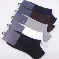 Wholesale Invisible Socks For Men - Wholesale-Bamboo Fiber 5 Pairs Brand Mens Man Ankle Short Low Invisible White Cotton Dress Socks Sokken Heren For Men Bambu CalzeUomo