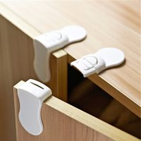 Wholesale Product Safety For Baby - 4pcs lot Child Baby Care Safety Security Cabinet Locks & Straps Products For Cabinet Drawer Wardrobe Doors Fridge Toilet Drawers