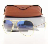 Wholesale Men Beach Sunglasses - New Arrival Men's Women's Metal Frame Gradient Lens Pilot Sunglasses (Glass lens) 58 mm   62 mm