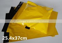 Wholesale Yellow Poly Mailers - Free Shipping 254x370mm Self Sealing Plastic Poly mailer Shipping Envelope  Mailing Bags  Yellow Color Plastic Postal Mailer
