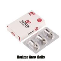 Wholesale Replacement Paper - 100% Original Horizon Arco Tank Coils Replacement A4 A6 0.2ohm Flax Paper+Cotton Coil Head For Arco Atomizer