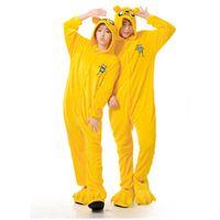 Wholesale Dog Onesie - Adventure Time Finn Jake Onesies Onesie Anime Finn Jake Cosplay Costume Flannel Jake Sleepwear Pajamas Finn Yellow Dog Onesies jumpsuit