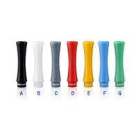 Wholesale New Ee2 Clearomizer - Flyskytech New Arrival 510 Telfon Long Drip Tips Mouthpiece transparent Colorful for EE2 Vivi Nova DCT 510 Electronic Cigarette Clearomizer
