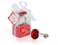 Wholesale diamond ring favors for wedding resale online - Halloween Christmas Home Party Favors Wedding Gifts Diamond Ring Keychain Key Accessories Wedding Favors And Gifts For Guest