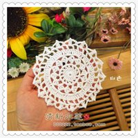 Wholesale Crochet Flower Decoration - 2016 new arrival european zakka fashion nutural cotton crochet lace doilies with cutout flower for dinning table decoration as novelty house