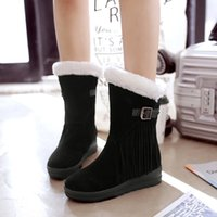 Wholesale Cheapest Waterproof Boots - Cheapest Plus Size Winter Heavy Fleece Waterproof Snow Boots Black