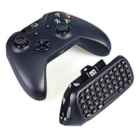 ingrosso ricevitore wireless microsoft-2.4G Mini Wireless Chatpad Test messaggio Tastiera Qwerty per Microsoft Xbox 360 One Controller Keyboard Adapter Receiver Retail Box Q2