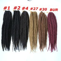 Wholesale crochet box braids hair online - Kanekalon Synthetic braiding hair Crochet Box X Braids Twits inch g synthetic hair extensions New arrival