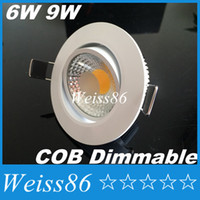 Hot Selling 6w Led Cob Downlights Led Spot Bulb Nature White 4000K Led Dimmable Recessed Fixture Lights 120 Beam Angle CE