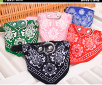 Wholesale Pink Bow Scarf - 200pcs lot Dog Puppy Triangle Bandana Lovely Pet Dog Scarf Collar Adjustable Top Quality Pet Cat Tie Collar Christmas Pet Supplies