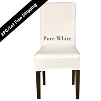 Wholesale cheap spandex chair covers wholesale - Free Shipping 2PC Strectch Chair Seat Cover 2016 Big Promotion Cheap Spandex Machine Washable Chair Cover for Hotel Dining Home Decoration