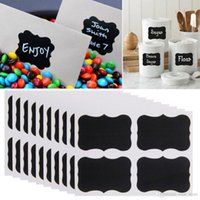 Atacado 36PCS / Set Blackboard Etiqueta Craft Kitchen Jar Organizador Etiquetas Etiquetas Chalk Board Stickers Black Container labels