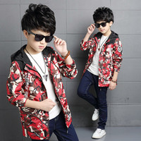 Kids Boy Spring New Hot Camo Print Jacket Teenager Autumn Camouflage Blazer Пальто Дети Fahion Boys Одежда Outwear