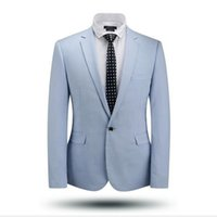 Wholesale Men Light Blue Suit Wedding - 2016 China Brand Men Light Purple Sky Blue Wedding Suits High Quality Wool Slim Fit Business Suit For Working&Prom Free Shipping