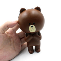 Vente en gros 12CM Jumbo Kawaii Mignon Squishy Rilakkuma Bear Cartoon Lenteur Rising pain Soft Cake bun Sweet Charm Scented Kids Toy Gift