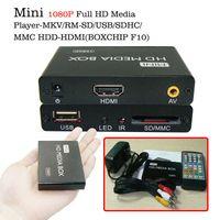 Wholesale Mmc Player - Multimedia player Mini HDMI Full HD Media Player 1080P TV BOX Support MKV RM-SD USB SDHC MMC HDD HDMI