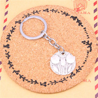 Wholesale Tulip Rings Jewelry - Keychain flower tulips Pendants DIY Men Jewelry Car Key Chain Ring Holder Souvenir For Gift