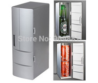 Wholesale Mini Usb Pc Fridge Refrigerator - Portable Mini USB Fridge Cooler Mini USB PC Refrigerator Beverage Drink Cans Freezer For Home New Cool Gadget Free Shipping