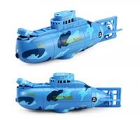 Wholesale Rc Mini Submarine - Mini RC Submarine Electric toys 6 Channels 0.5M Underwater 3.7v 120mah Remote Control Submarine Boats