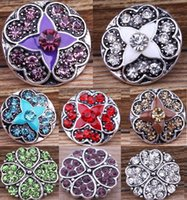 Wholesale hot antique charm resale online - Hot Snap buttons Jewelry fit Bracelet Bangles Antique Fashion DIY Charms Crystal Bell Design chunk