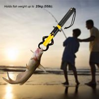 Two-Sided Grilletto portatile Fish Lip Gripper Grabber Lip Grip Tool Clip Porta pesce Bilancia da pesca Outdoor Gear da pesca con Bilancia