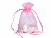 regalos de boda al por mayor-Bolsas de embalaje de organza 100 piezas Bolsas de joyería Favores de boda Fiesta de Navidad Bolsa de regalo 9 x 12 cm (3,6 x 4,7 pulgadas)